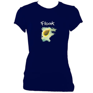 "update alt-text with template Flook ""Haven"" Ladies Fitted T-Shirt - T-shirt - Navy - Mudchutney"