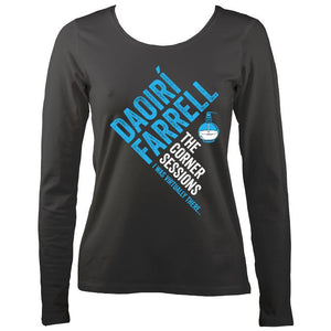 Daoiri Farrell Corner Session Bottle Women's Long Sleeve Shirt - Long Sleeved Shirt - Charcoal - Mudchutney