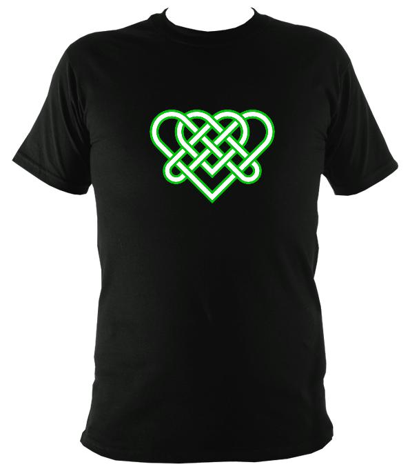 Celtic Triple Hearts Knot T-shirt - T-shirt - Black - Mudchutney