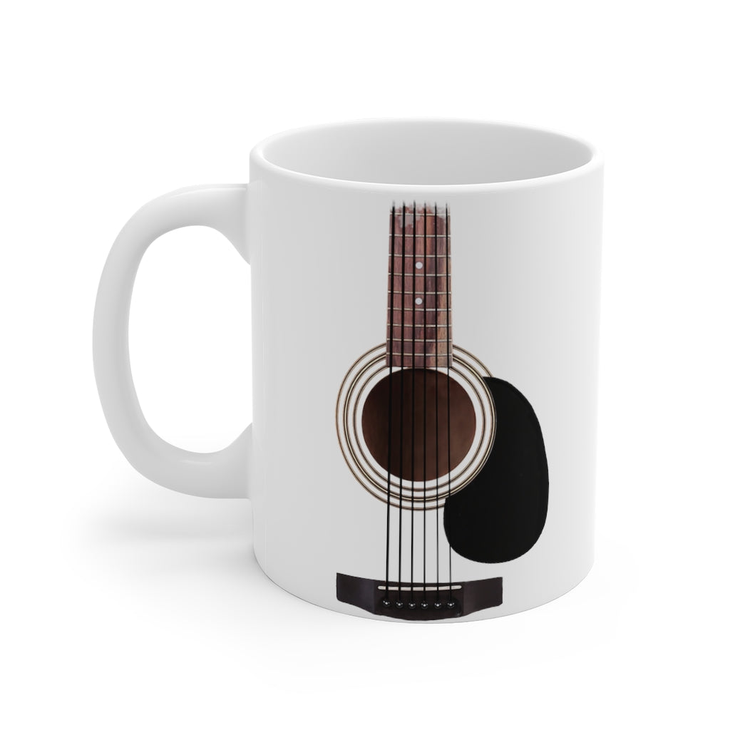 Guitar Mug | Acoustic Guitar Neck & Strings Mug | Gift for guitar players | Musical themed gift - ceramic mug