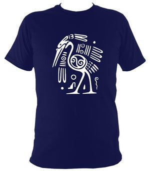 Egyptian or Tribal Style Bird - T-shirt - Navy - Mudchutney