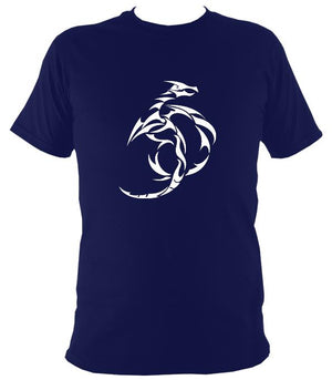 Tribal Dragon T-shirt - T-shirt - Navy - Mudchutney