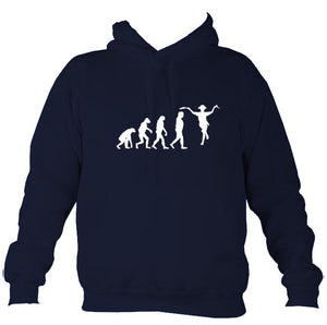 Evolution of Morris Dancers Hoodie-Hoodie-Oxford navy-Mudchutney