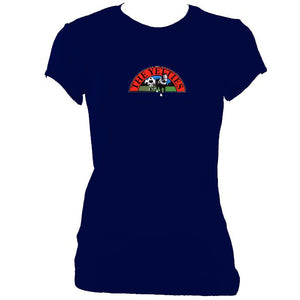 update alt-text with template The Yetties Ladies Fitted T-shirt - T-shirt - Navy - Mudchutney