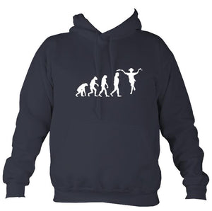 Evolution of Morris Dancers Hoodie-Hoodie-Denim-Mudchutney