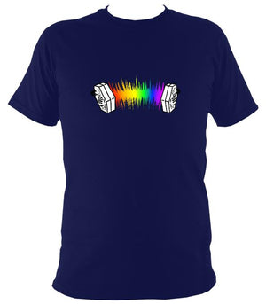 Concertina Rainbow Mens t-shirt in Navy blue