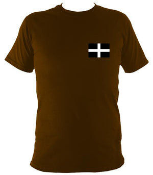 Cornish Flag T-Shirt - T-shirt - Dark Chocolate - Mudchutney
