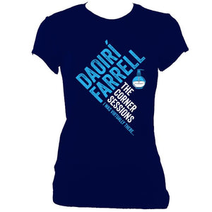 update alt-text with template Daoiri Farrell Corner Session Bottle Women's Fitted T-shirt - T-shirt - Navy - Mudchutney