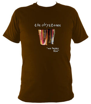 "The Drystones ""We Happy Few"" T-shirt - T-shirt - Dark Chocolate - Mudchutney"