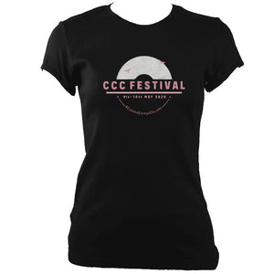 update alt-text with template Ciaran's Corona Collabs Ladies Fitted T-shirt - T-shirt - Black - Mudchutney