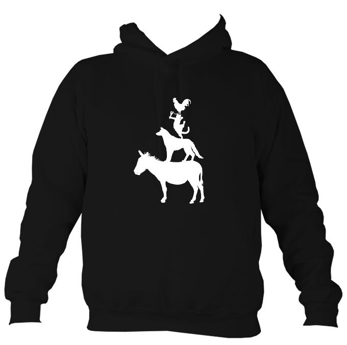 Animal Band Hoodie-Hoodie-Jet black-Mudchutney