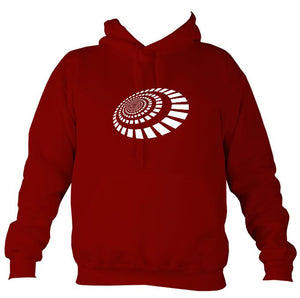 Spiral Blocks Hoodie-Hoodie-Red hot chilli-Mudchutney