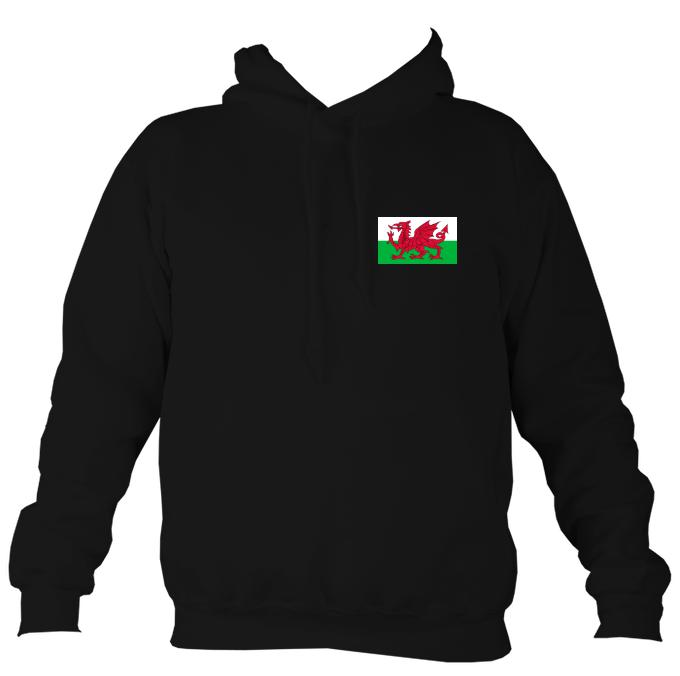 Welsh Dragon Flag Hoodie-Hoodie-Jet black-Mudchutney