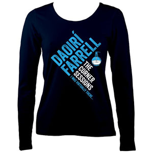Daoiri Farrell Corner Session Bottle Women's Long Sleeve Shirt - Long Sleeved Shirt - Navy - Mudchutney