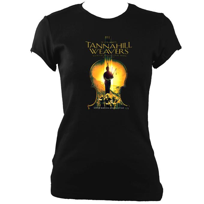 update alt-text with template Tannahill Weavers Ladies Fitted T-Shirt - T-shirt - Black - Mudchutney