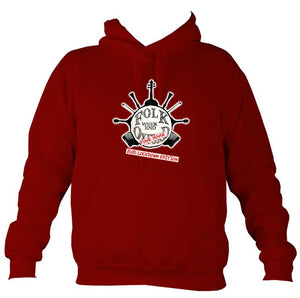 "Folk Weekend: Oxford ""2020 Lockdown Edition"" Hoodie-Hoodie-Red hot chilli-Mudchutney"