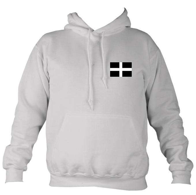 Cornish Flag Hoodie-Hoodie-Moondust grey-Mudchutney