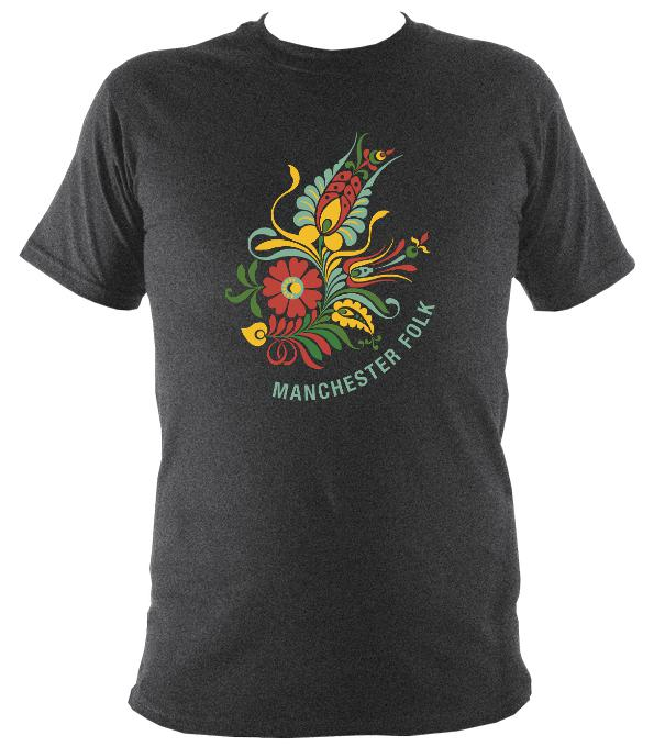 Manchester Folk T-shirt - T-shirt - Dark Heather - Mudchutney