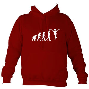 Evolution of Morris Dancers Hoodie-Hoodie-Red hot chilli-Mudchutney