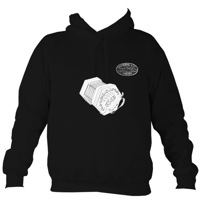 Lachenal 20 key Anglo Concertina Hoodie-Hoodie-Jet black-Mudchutney