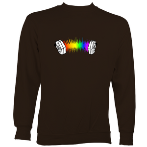 Rainbow Sound Wave Concertina Sweatshirt