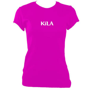 update alt-text with template Kila Ladies Fitted T-shirt - T-shirt - Heliconia - Mudchutney