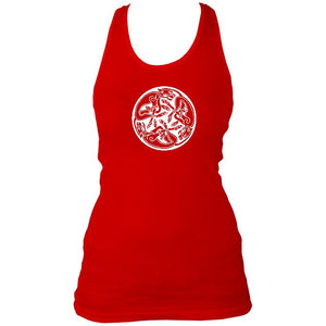 Celtic Animals Ladies Racerback Vest