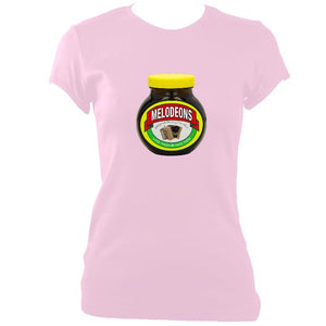 update alt-text with template Melodeons - Love or Hate them Ladies Fitted T-shirt - T-shirt - Light Pink - Mudchutney