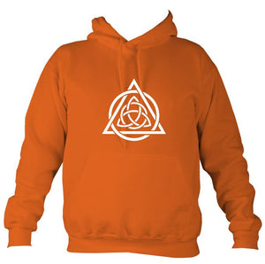 Celtic Triqueta Hoodie-Hoodie-Burnt orange-Mudchutney