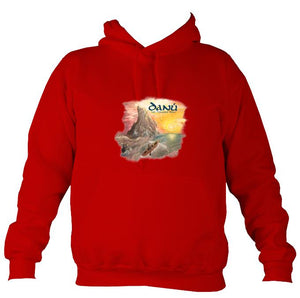 Danú Ten Thousand Miles Hoodie-Hoodie-Fire red-Mudchutney