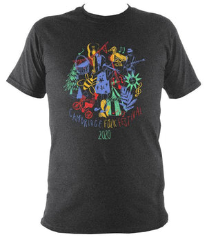 Cambridge Folk Festival - Design 9 - T-shirt - T-shirt - Dark Heather - Mudchutney