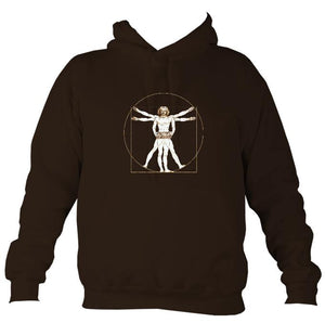 Da Vinci Vitruvian Man Playing Concertina Hoodie-Hoodie-Hot chocolate-Mudchutney