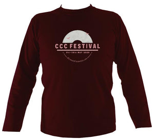 Ciaran's Corona Collabs Mens Long Sleeve Shirt - Long Sleeved Shirt - Maroon - Mudchutney