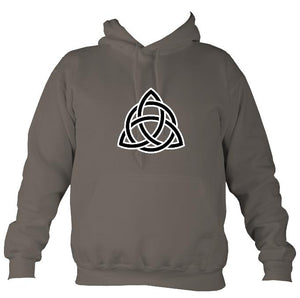 Celtic Triangular Knot Hoodie-Hoodie-Mocha brown-Mudchutney