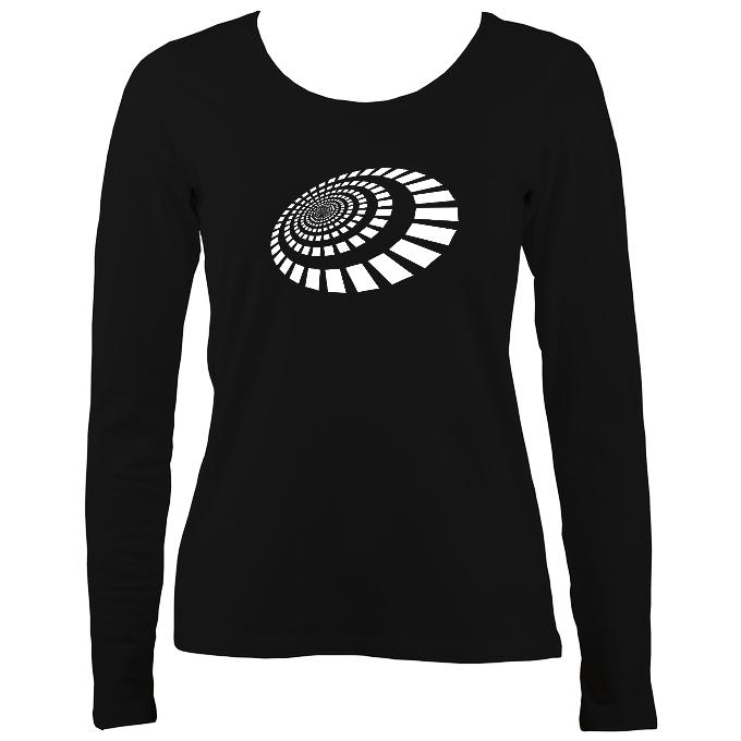 Spiral Blocks Ladies Long Sleeve Shirt