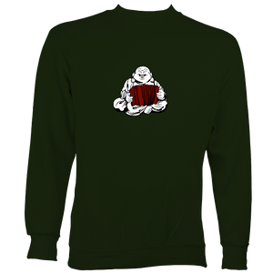 Melodeon Playing Buddha Sweatshirt