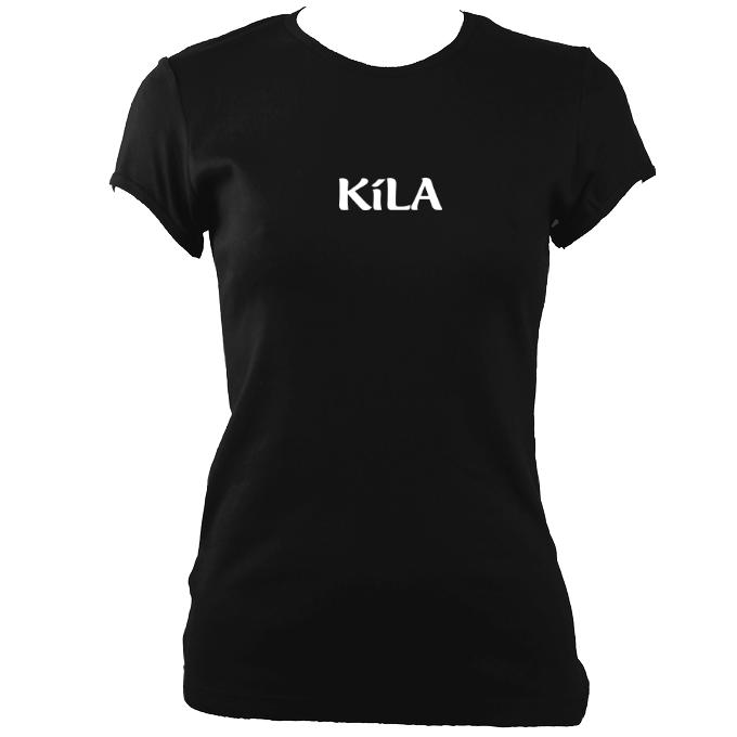 update alt-text with template Kila Ladies Fitted T-shirt - T-shirt - Black - Mudchutney