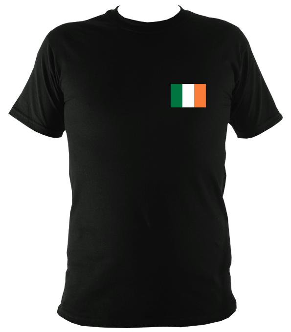 Irish Flag T-shirt - T-shirt - Black - Mudchutney