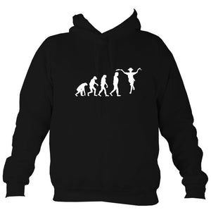 Evolution of Morris Dancers Hoodie-Hoodie-Jet black-Mudchutney