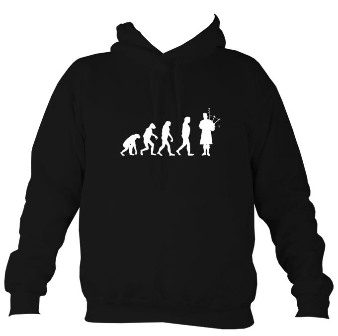 Evolution of Bagpipe Players Hoodie-Hoodie-Jet black-Mudchutney