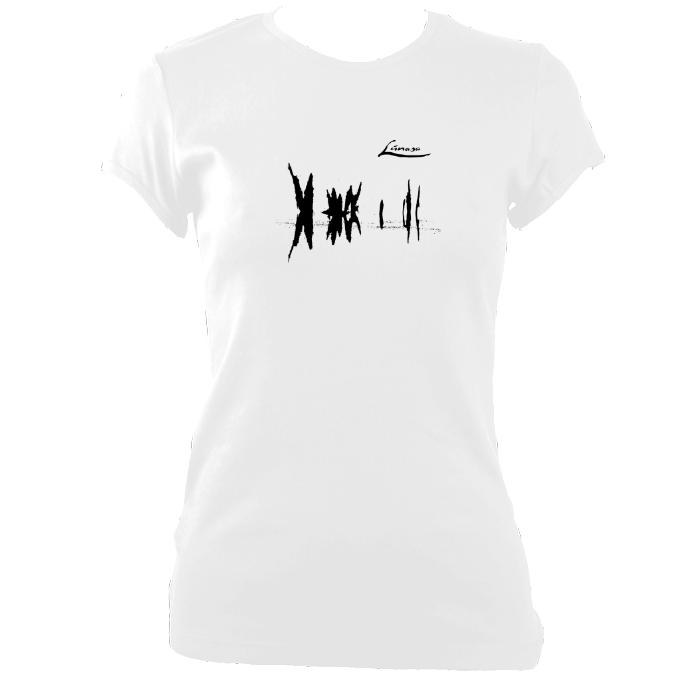 "update alt-text with template Lúnasa ""Lá Nua"" Ladies Fitted T-shirt - T-shirt - White - Mudchutney"