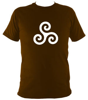 Triskelion Celtic Design T-shirt - T-shirt - Dark Chocolate - Mudchutney