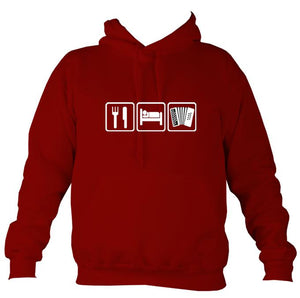 Eat, Sleep, Play Melodeon Hoodie-Hoodie-Red hot chilli-Mudchutney