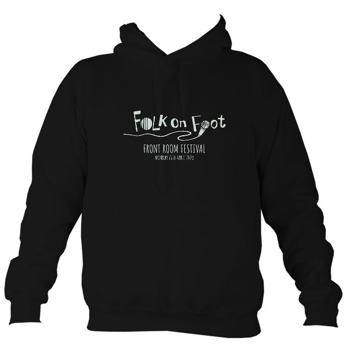 "Folk on Foot ""Front Room Festival"" Hoodie-Hoodie-Jet black-Mudchutney"