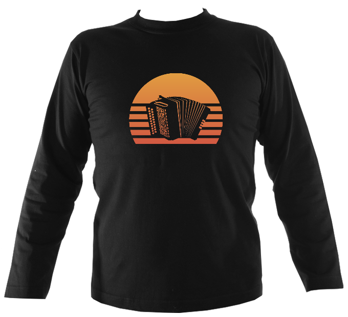 Melodeon Sunset Mens Long Sleeve Shirt