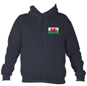 Welsh Dragon Flag Hoodie-Hoodie-Denim-Mudchutney