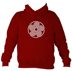 Celtic Five Spiral Hoodie-Hoodie-Red hot chilli-Mudchutney