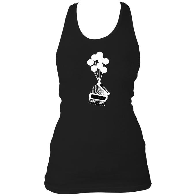 Banksy Style Accordion Ladies Racerback Vest