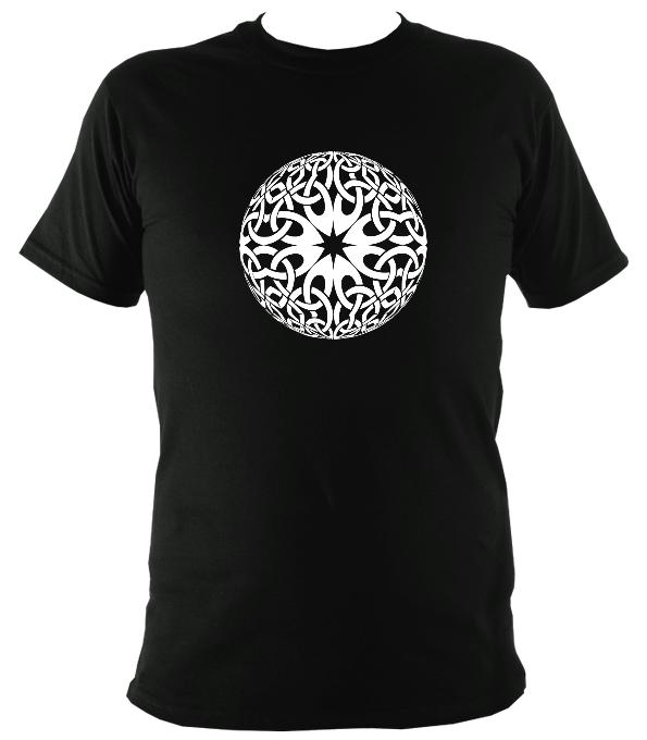 Modern Celtic Globe Illusion T-shirt - T-shirt - Black - Mudchutney