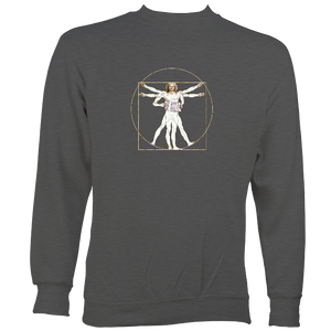 Da Vinci Vitruvian Man Playing Melodeon Sweatshirt